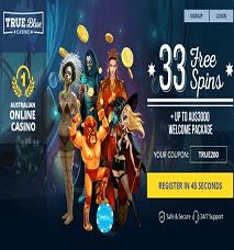 True Blue Casino No Deposit Promos